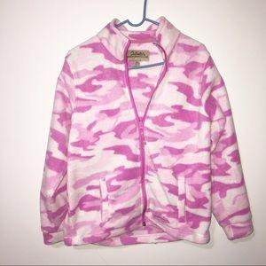 Cabela's pink camo fleece jacket size medium